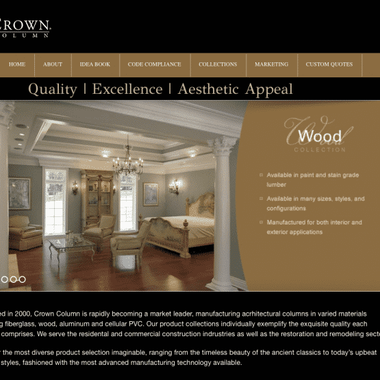 Crown Columns Web Development Project
